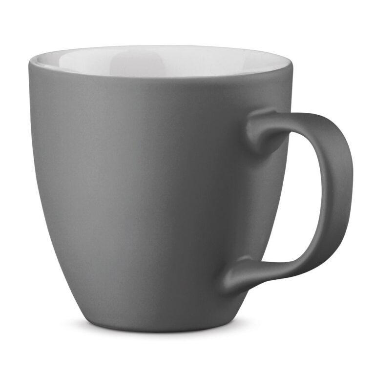 XL Tasse 450ml bedrucken grau matt