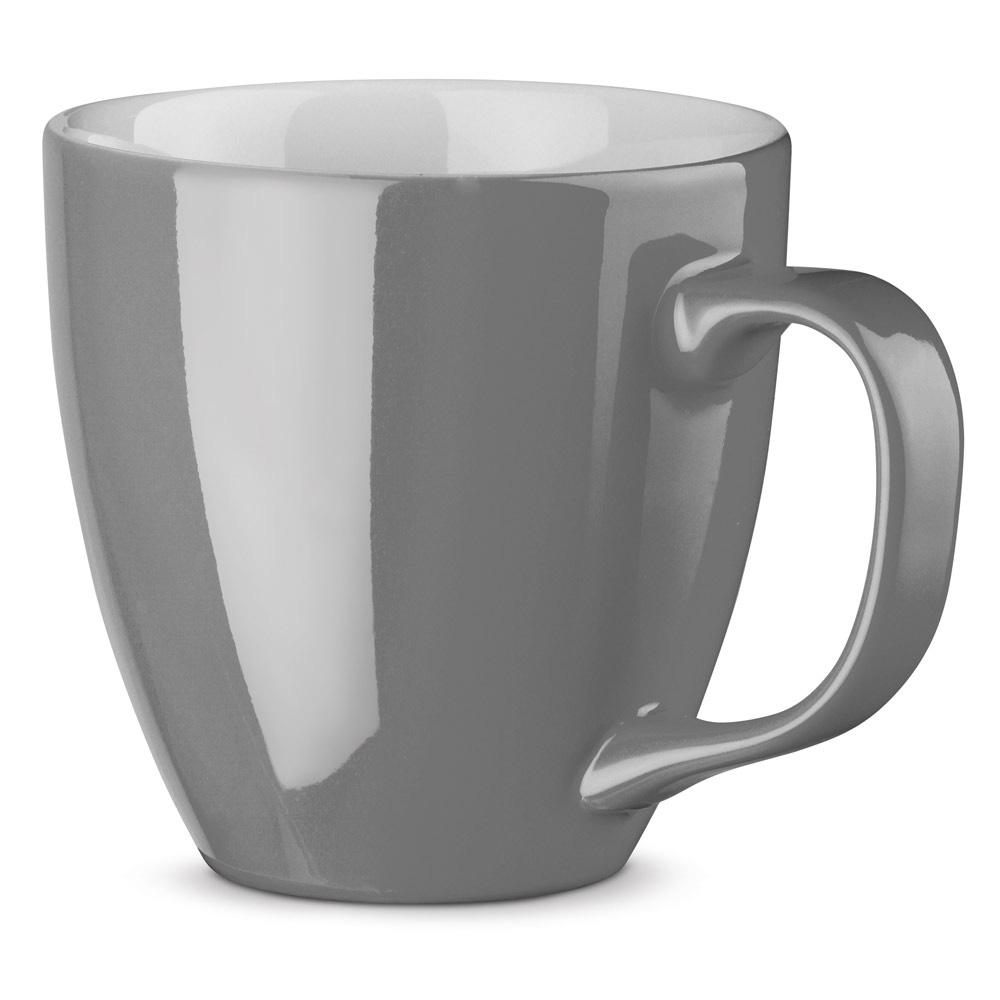 XL Tasse 450ml bedrucken grau glänzend