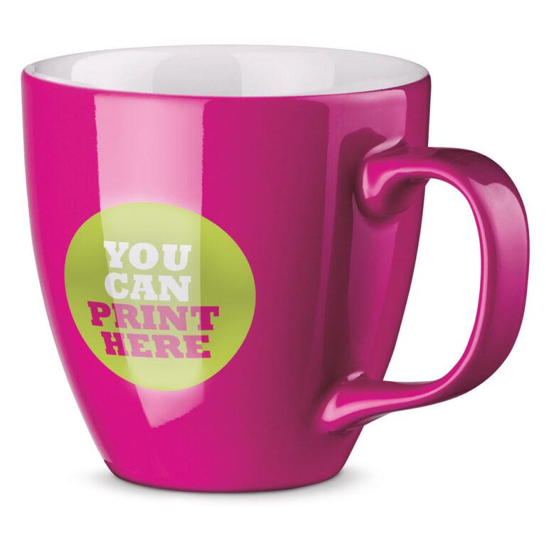 XL Tasse 450ml bedrucken pink logo