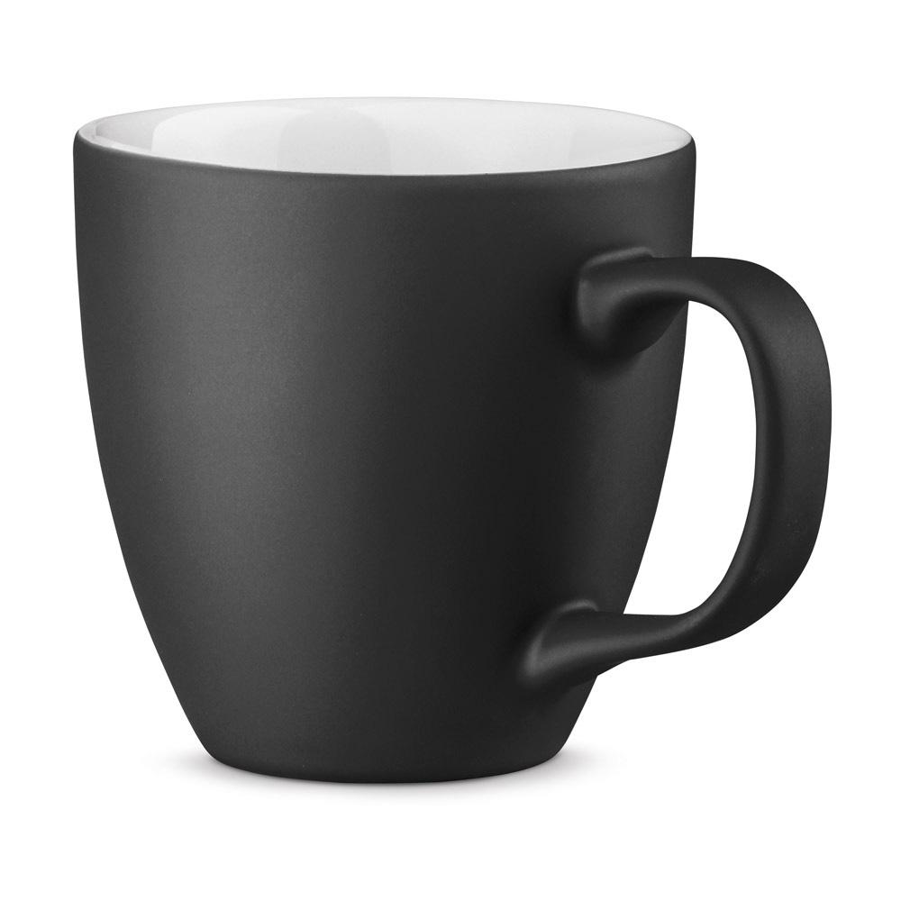 XL Tasse 450ml bedrucken schwarz matt