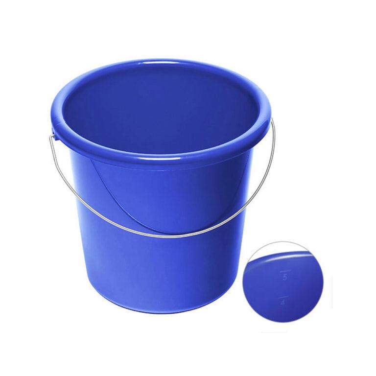 5 Liter Eimer blau bedrucken lassen