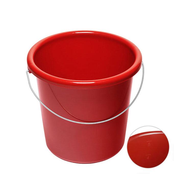 5 Liter Eimer rot bedrucken lassen