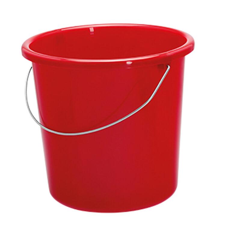 roter 5 Liter Eimer bedrucken lassen