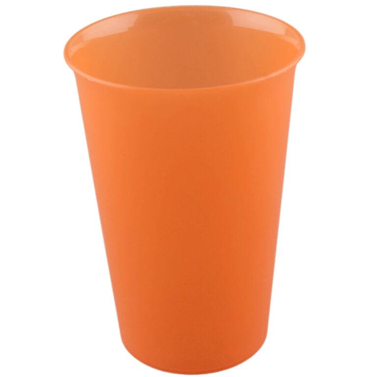 Trinkbecher Mehrweg 300ml orange bedrucken lassen