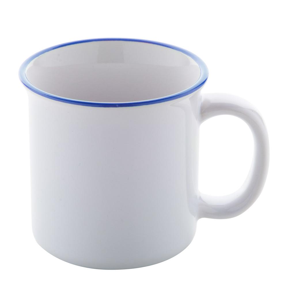 Vintage Tasse mit Sublimationsdruck bedrucken lassen - blau