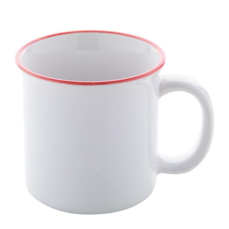 Vintage Tasse mit Sublimationsdruck bedrucken lassen - rot