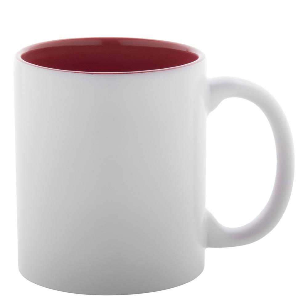 weiss-rot Tasse gravieren lassen