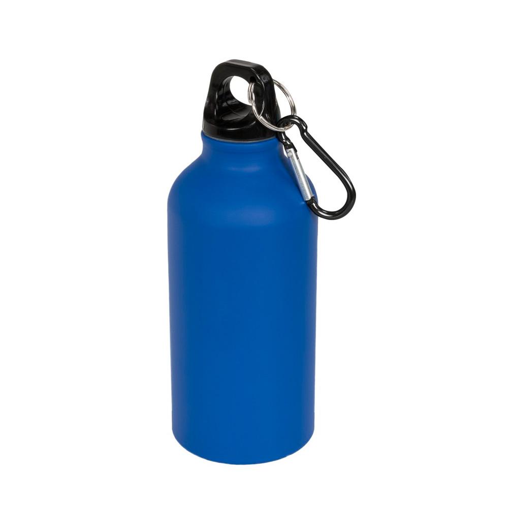 Aluminium Trinkflasche 400ml blau matt