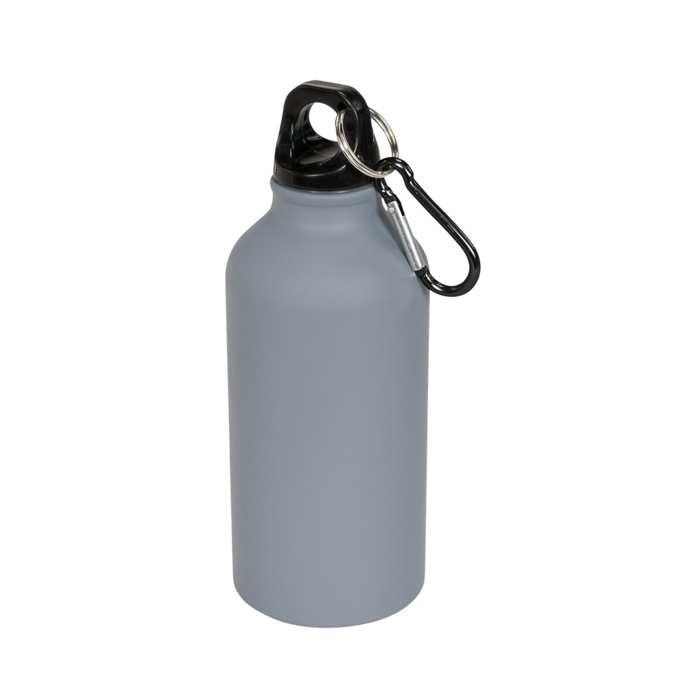 Aluminium Trinkflasche 400ml grau matt