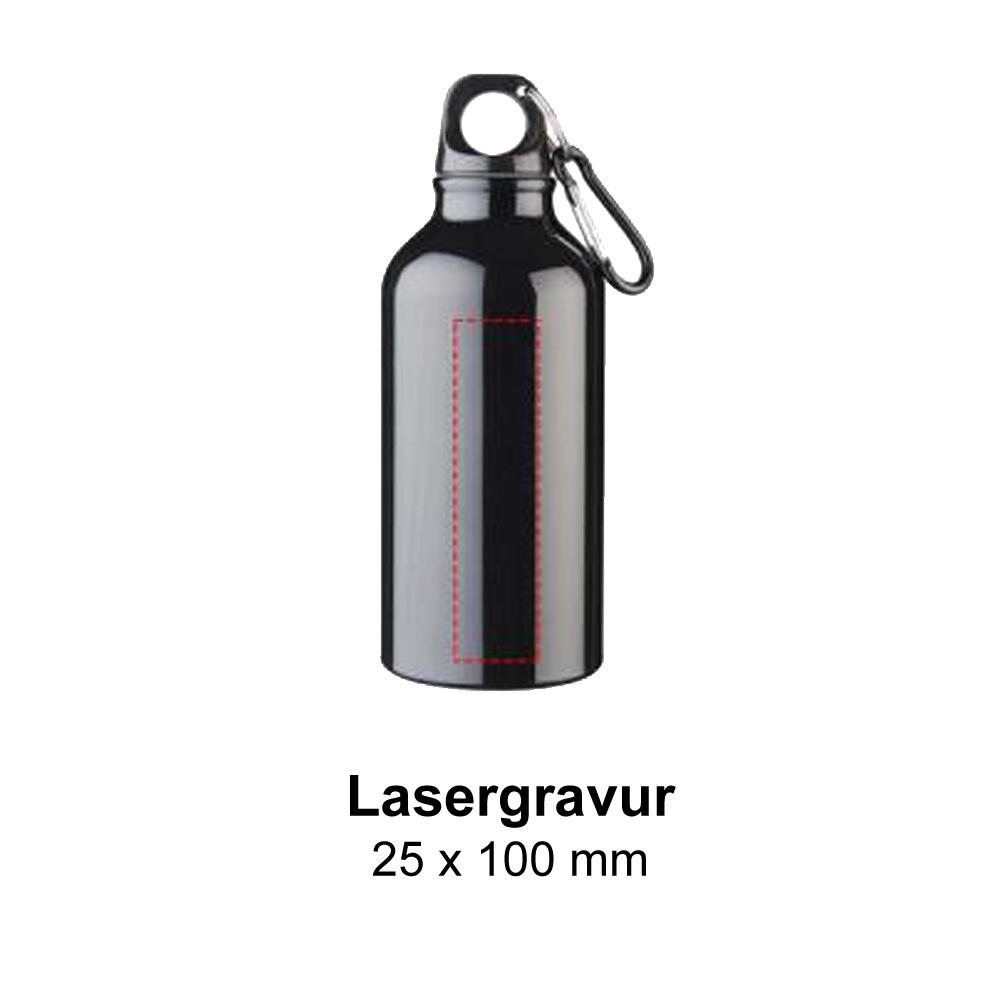 Aluminium Trinkflasche 400ml Lasergravur