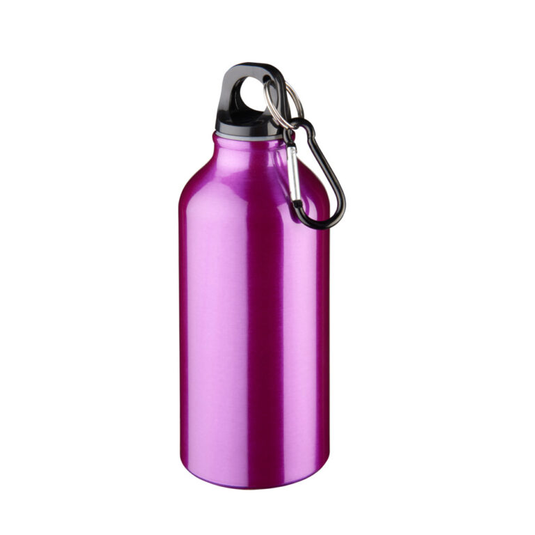 Aluminium Trinkflasche 400ml lila