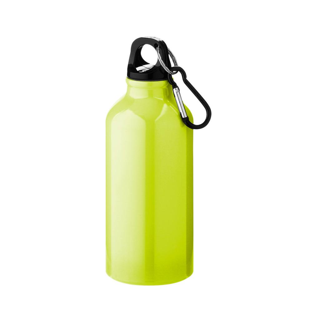 Aluminium Trinkflasche 400ml neon gelb