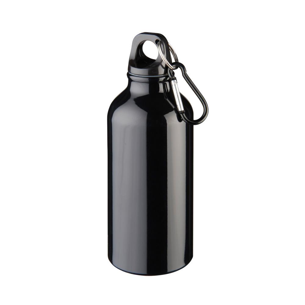 Aluminium Trinkflasche 400ml schwarz