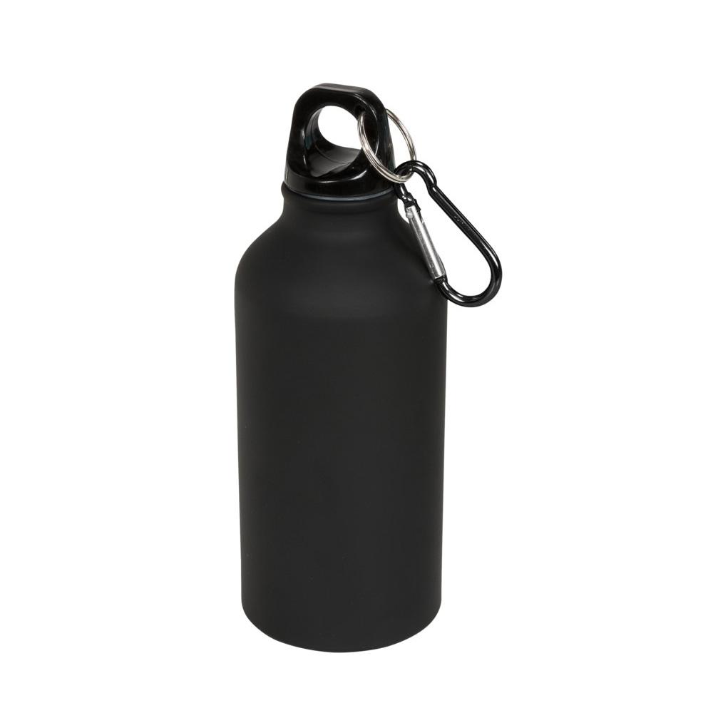 Aluminium Trinkflasche 400ml schwarz matt