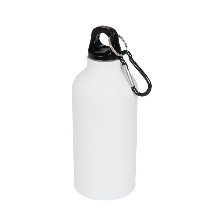 Aluminium Trinkflasche 400ml weiss matt