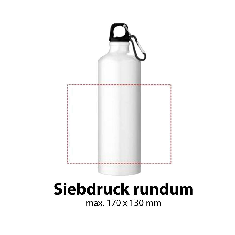 Trinkflasche Aluminium 770ml Siebdruck