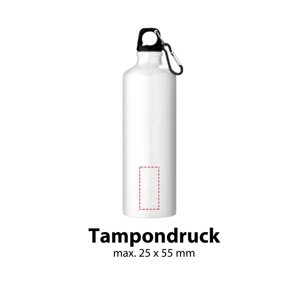 Trinkflasche Aluminium 770ml Tampondruck