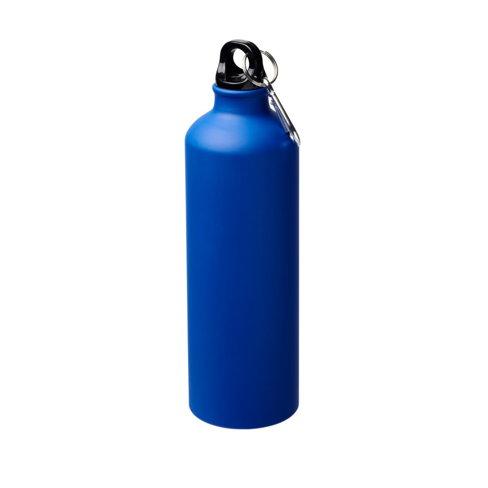 matt blaue Trinkflasche Aluminium 770ml bedrucken lassen