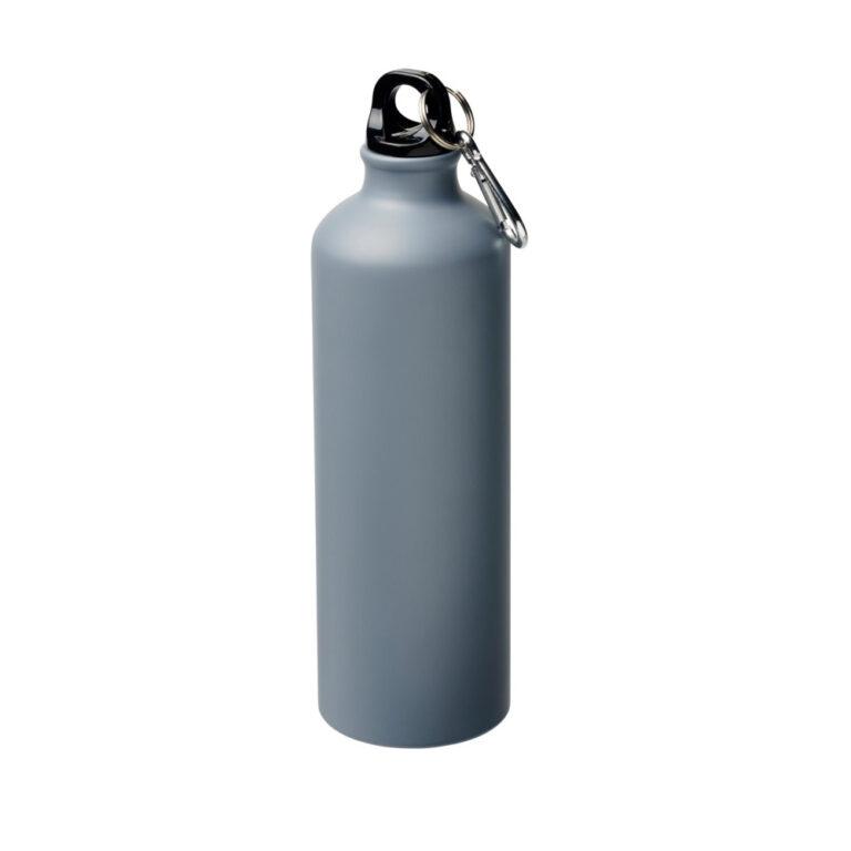 matt grau Trinkflasche Aluminium 770ml bedrucken lassen
