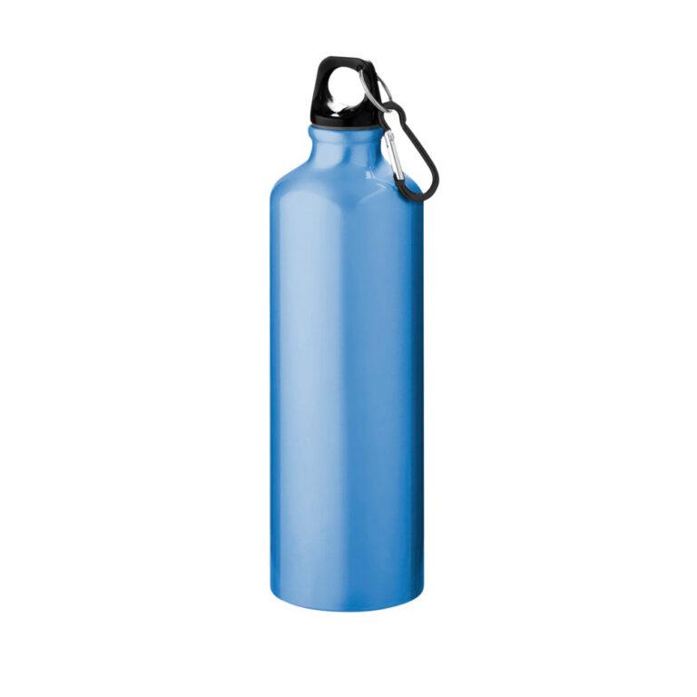 hellblaue Trinkflasche Aluminium 770ml bedrucken lassen