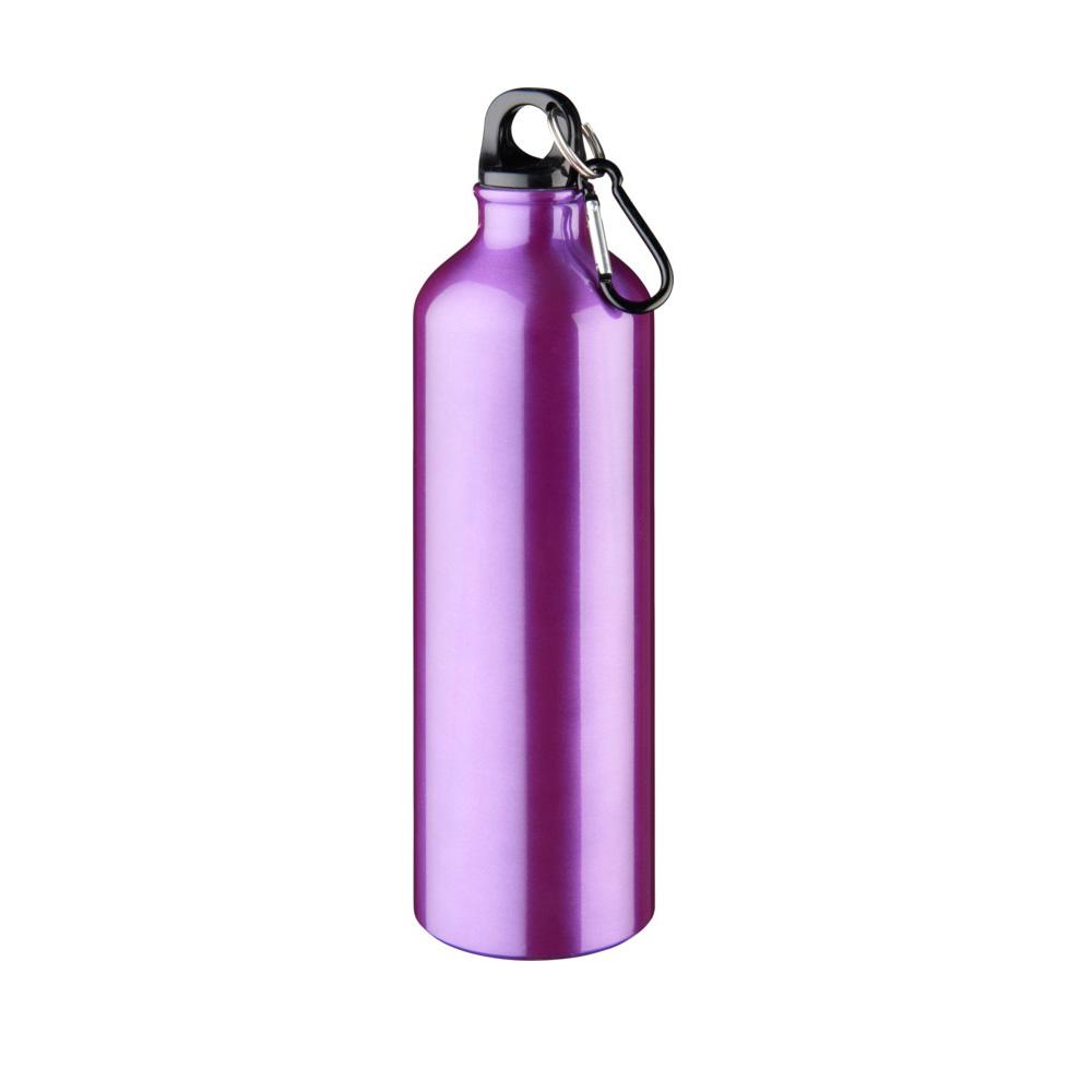 lila Trinkflasche Aluminium 770ml bedrucken lassen
