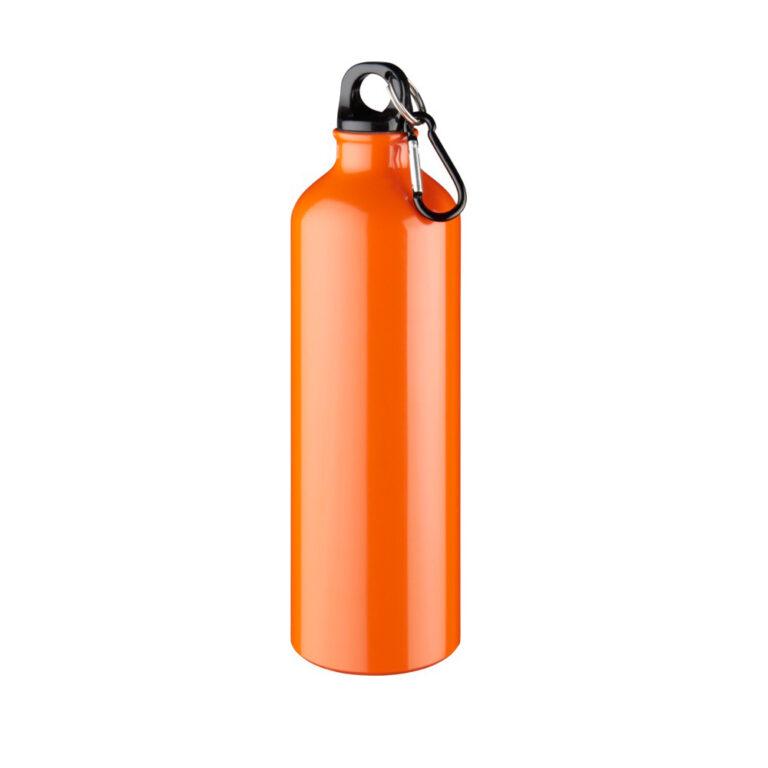 orange Trinkflasche Aluminium 770ml bedrucken lassen