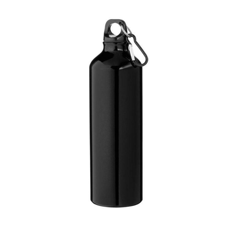 schwarze Trinkflasche Aluminium 770ml bedrucken lassen