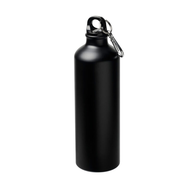 matt schwarze Trinkflasche Aluminium 770ml bedrucken lassen