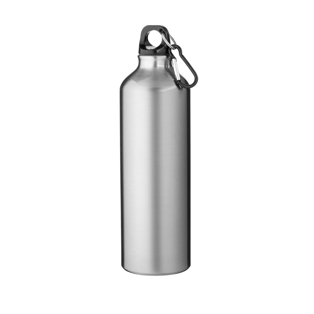 silberne Trinkflasche Aluminium 770ml bedrucken lassen