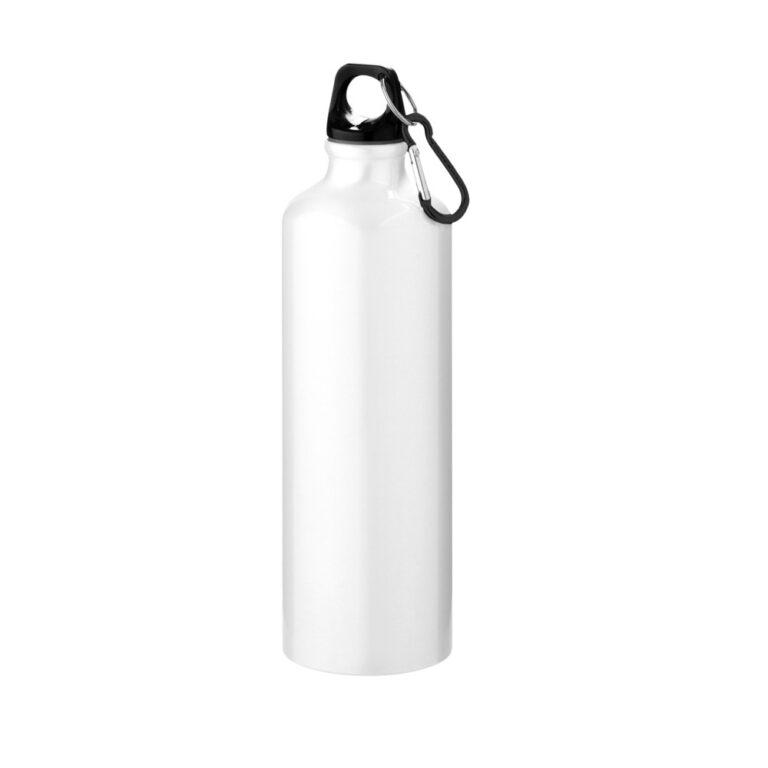 weisse Trinkflasche Aluminium 770ml bedrucken lassen