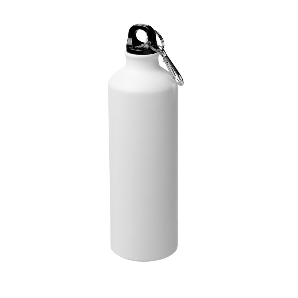 matt weisse Trinkflasche Aluminium 770ml bedrucken lassen