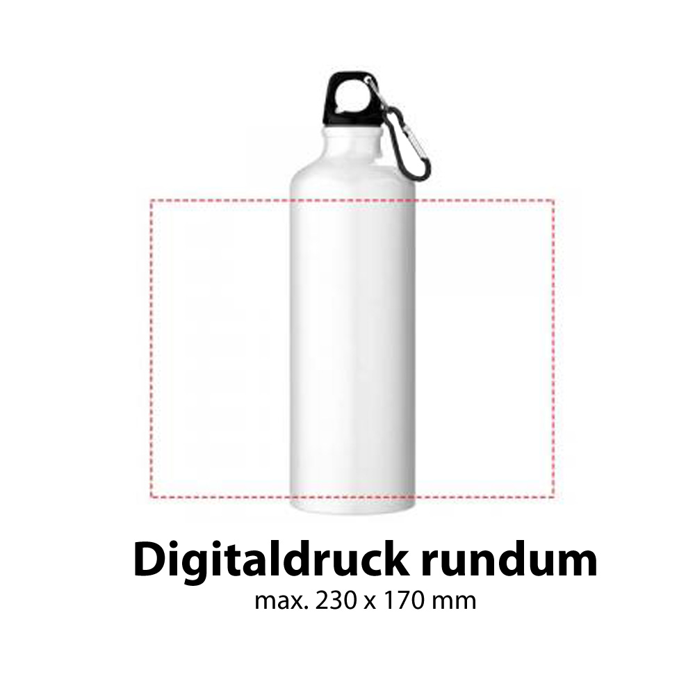 Trinkflasche Aluminium 770ml Digitaldruck