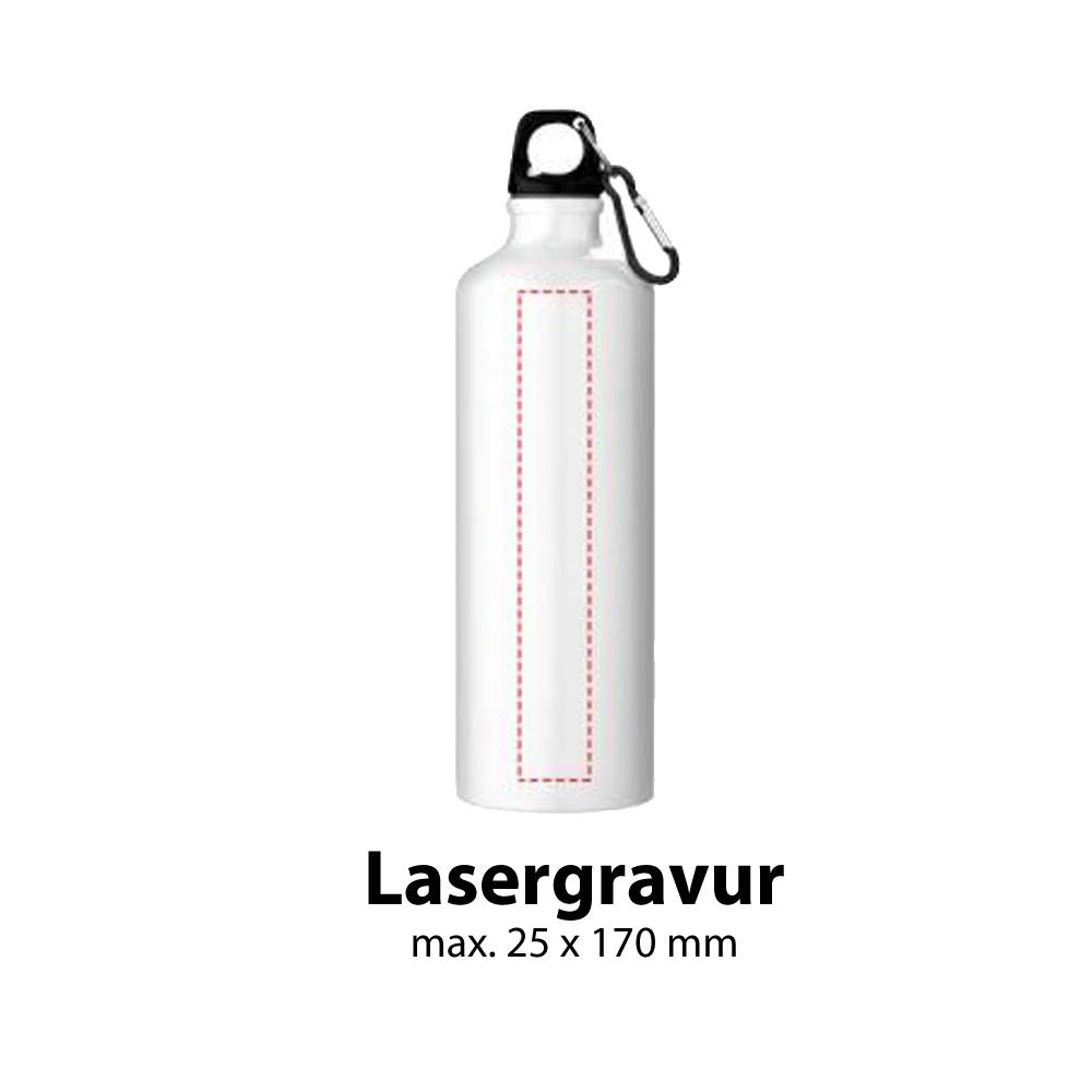 Trinkflasche Aluminium 770ml Lasergravur