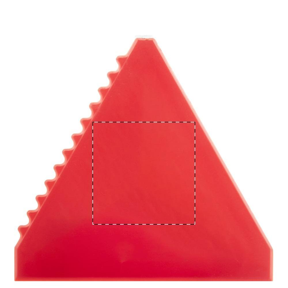 Dreieckiger Eiskratzer Druckfläche Tampondruck Rückseite