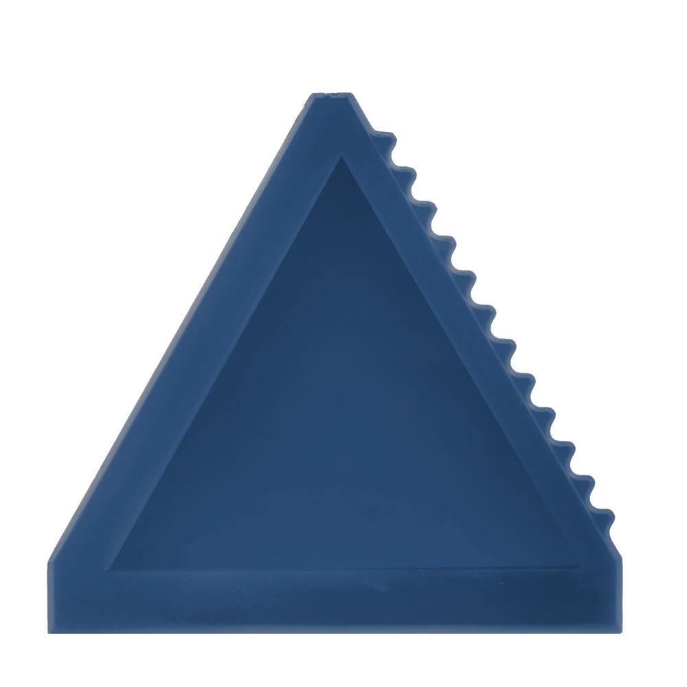Dreieckiger blauer Eiskratzer bedrucken lassen