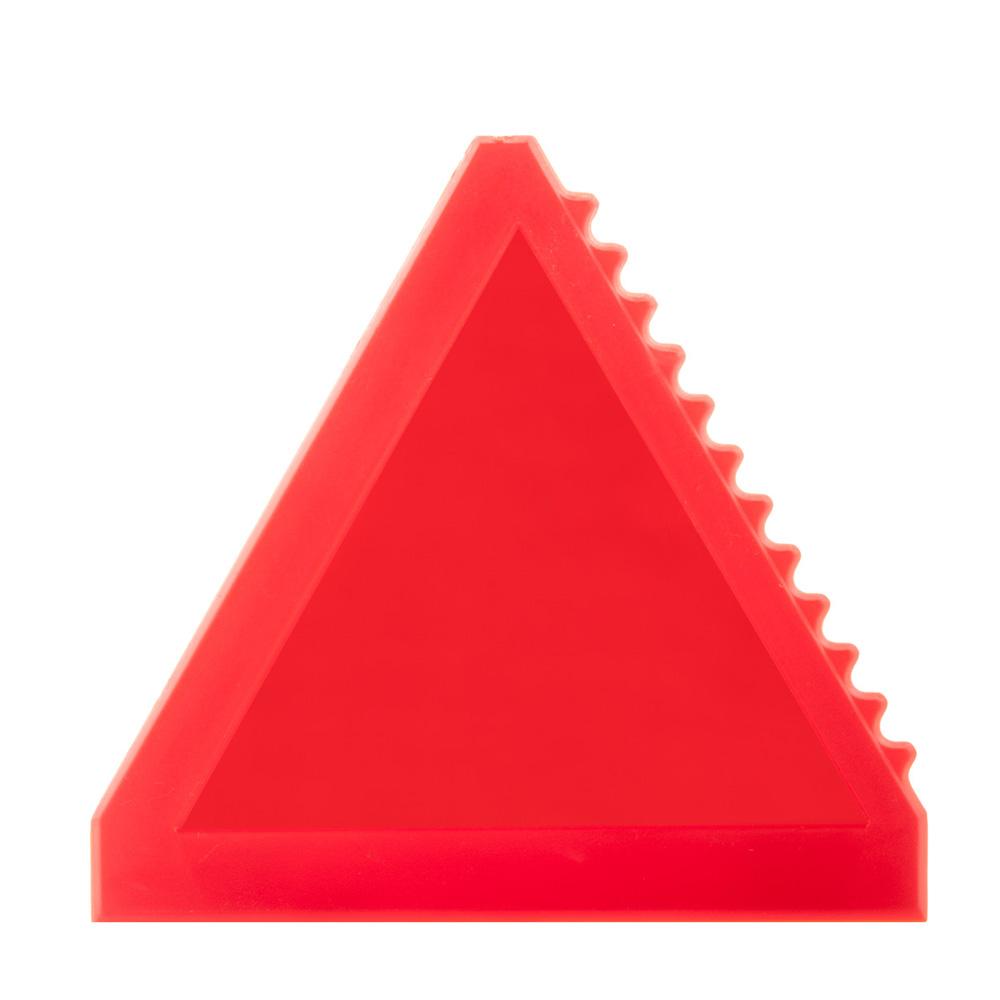 Dreieckiger roter Eiskratzer bedrucken lassen