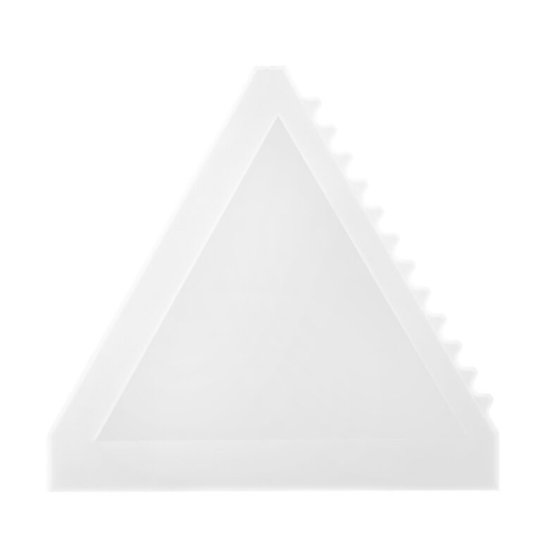 Dreieckiger weisser Eiskratzer bedrucken lassen