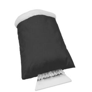Eiskratzer mit schwarzem Handschuh mit Werbedruck