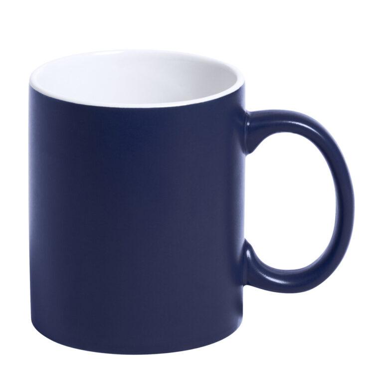 blaue Tasse gravieren lassen