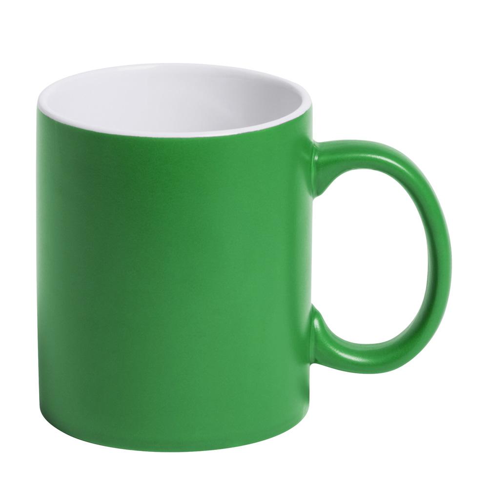 grüne Tasse gravieren lassen