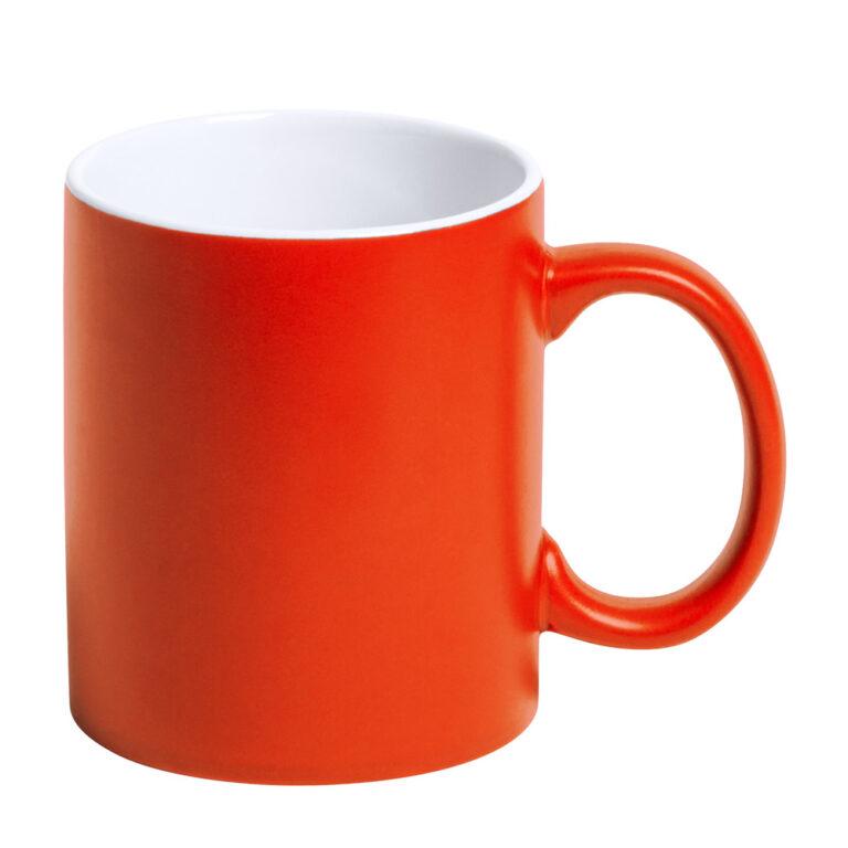 orange Tasse gravieren lassen