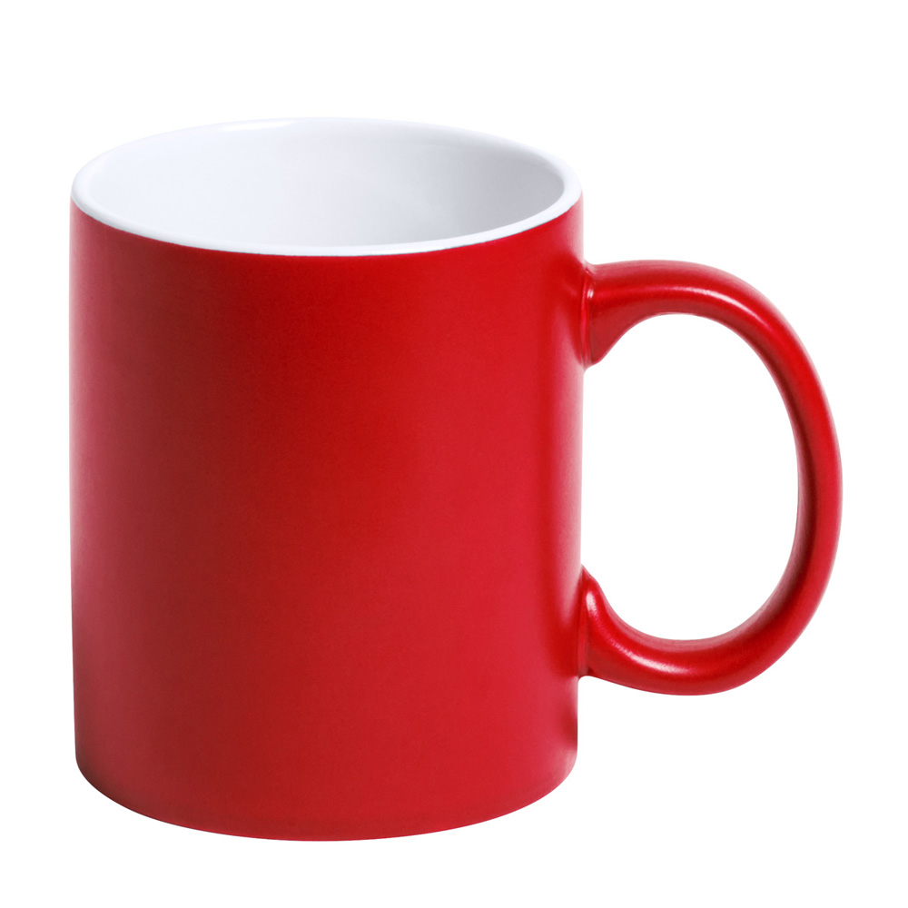 rote Tasse gravieren lassen