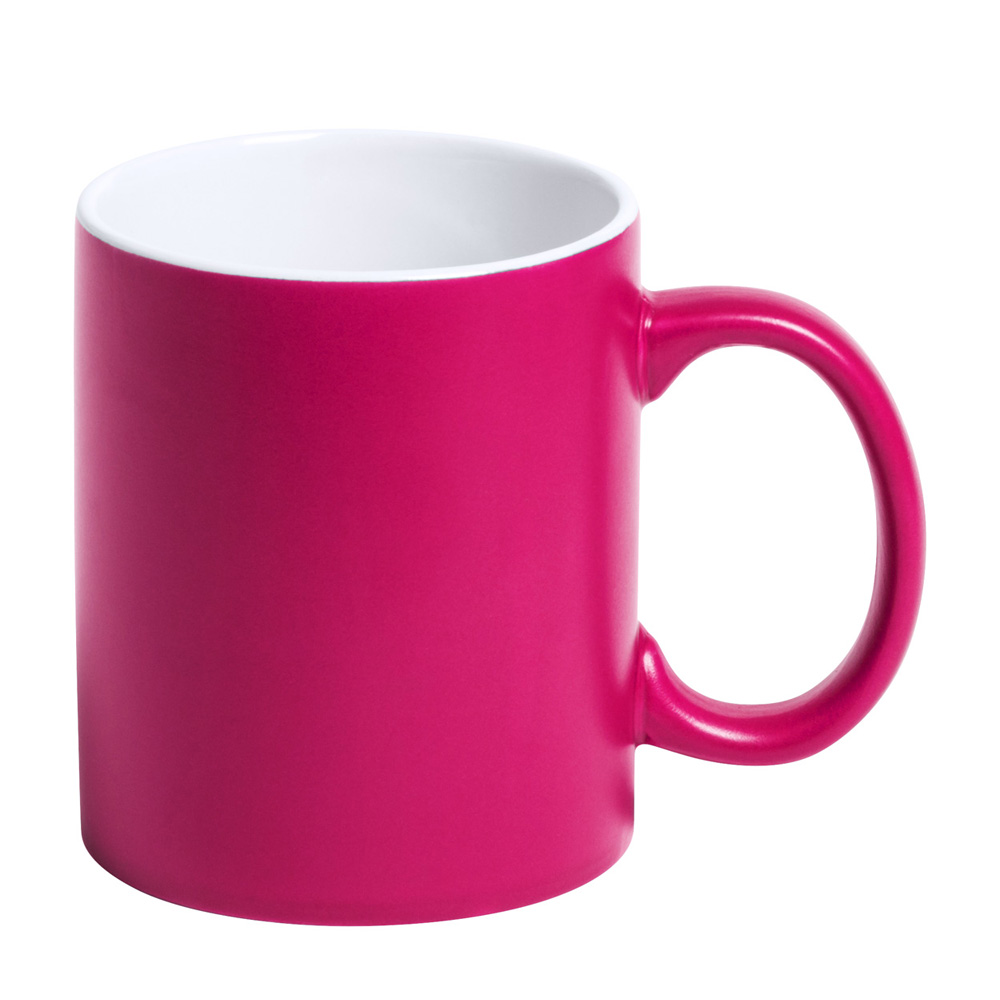 pinke Tasse gravieren lassen