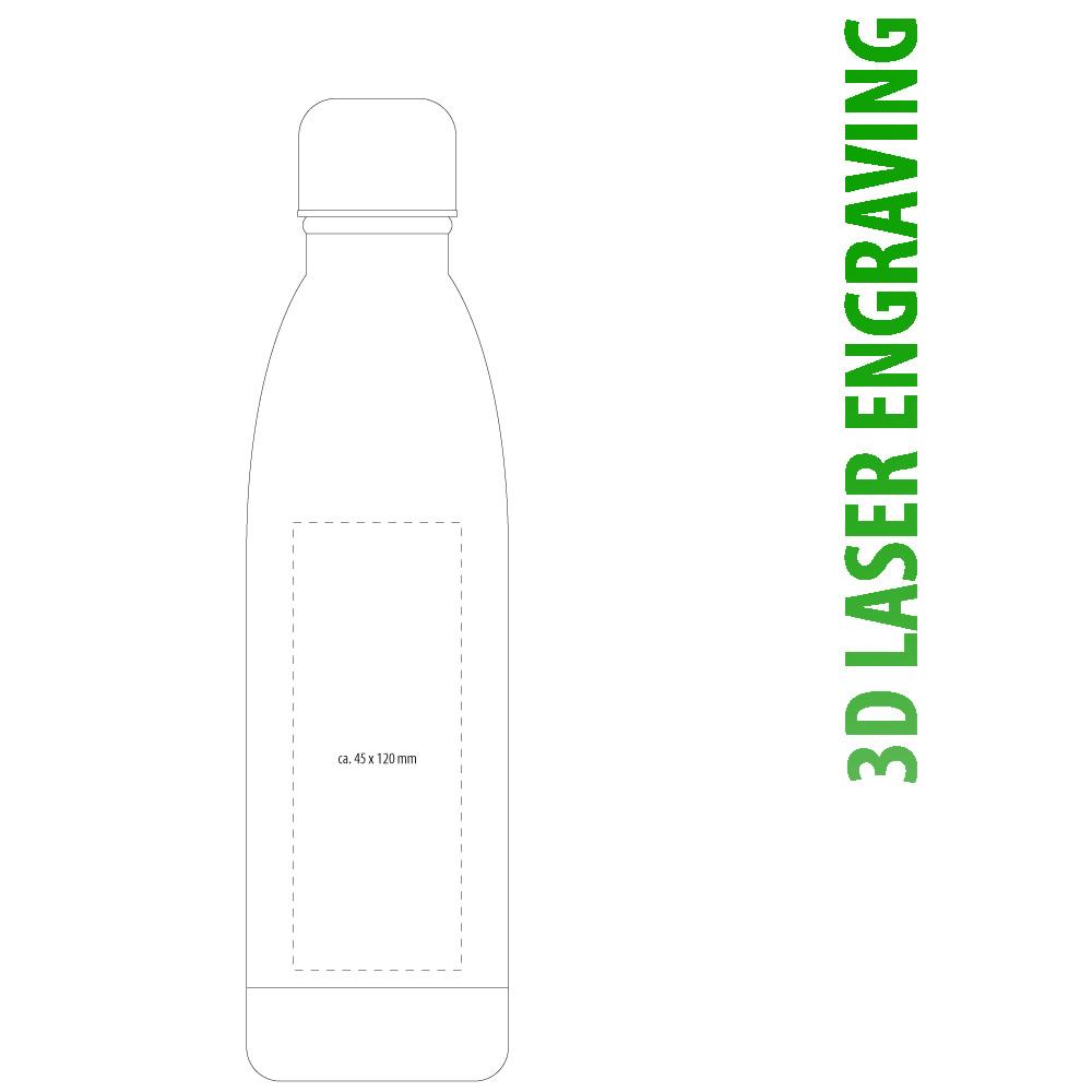 3D Lasergravur Thermotrinkflasche