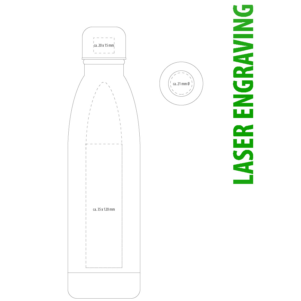 Thermotrinkflasche mit Lasergravur