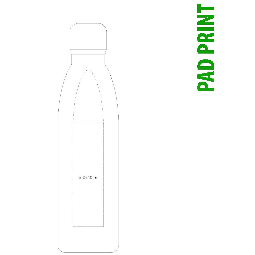 Tampondruck auf Thermotrinkflasche